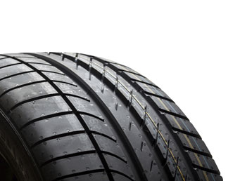 Photo of a vehicle tire tread