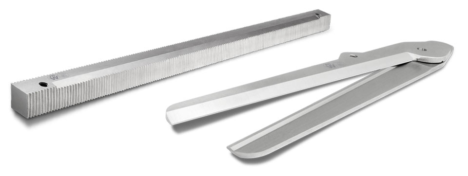 Photo of two packaging and composite material blades